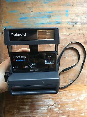 VINTAGE Polaroid One Step Close Up Instant 600 Film Camera With Strap!