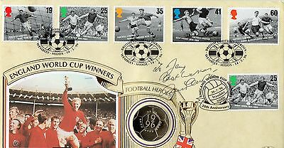 Authentic Signed Bobby Charlton England 1966 World Cup Fdc...real Signature..coa