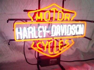 Hd New Harley Davidson Light Real Glass Neon Sign Limited Time Offer!