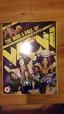 The Rise & Fall Of WCW (3 DVD)Signed by Kevin Nash,Scott Hall & Sean Waltman WWE