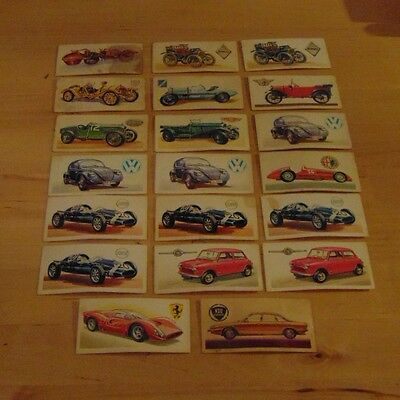 Small number of 'History of the Motor Car', Brooke Bond tea cards
