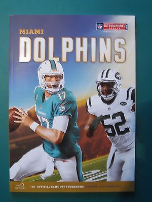 Nfl Wembley 2015 Miami Dolphins V New York Jets *official Programme*