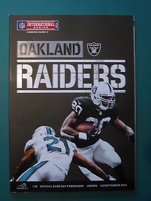 Nfl Wembley 2014 Oakland Raiders V Miami Dolphins *official Programme*