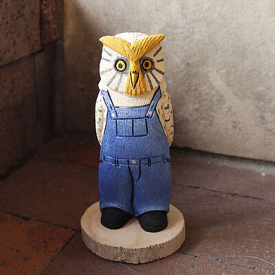 OWL BOY IN OVERALLS by RAY & ORLEEN LANSING - NAVAJO