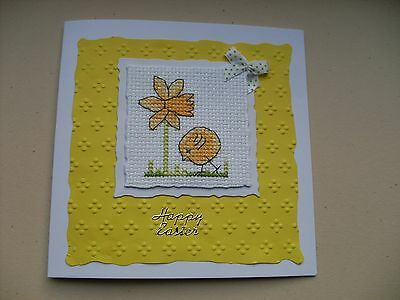 Hand Made Completed Cross Stitch Cards Easter
