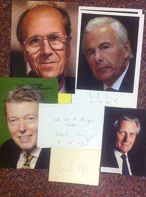 11x CONSERVATIVE TORY PARTY MP'S Signed Promos - Norman Tebbit, Lord Levy, Hague