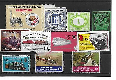 GB Private Railway Stamps Selection
