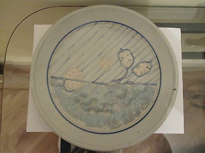 "Highland Stoneware Lochinver Large Wall Plate 10"" 26cms Diameter"
