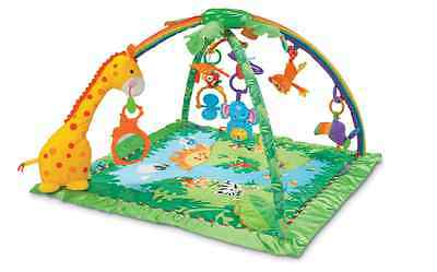 Fisher Price Rainforest Baby Activity Gym Musical Lights Infant Play Mat Toys