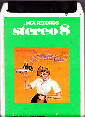 AMERICAN GRAFFITI ● Rara MC STEREO 8 Italy ●  SOUNDTRACK 1974 ● THE PLATTERS