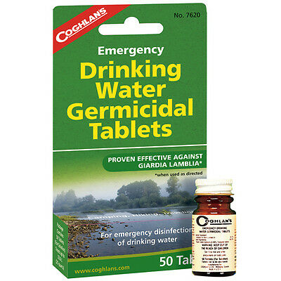 Coghlans Drinking Water treatment Tablets for camping survival backpacking