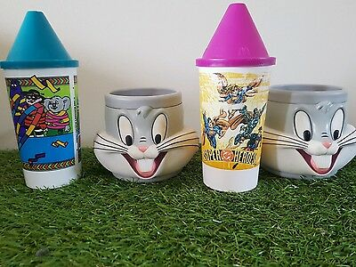 4 x  MCDONALDS 1996 OLYMPIC PLASTIC CUPS/ BUGS BUNNY