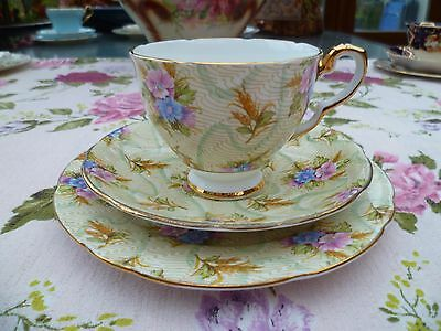 Lovely Vintage Royal Stafford China Trio Tea Cup Saucer Elizabeth Chintz