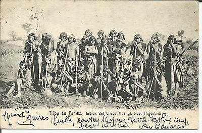 Postcard Armas Tribe  Argentina South America