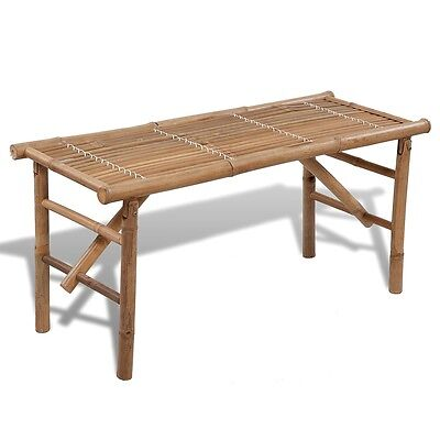 New Bamboo Folding Bench/Tropical Coffee Table Bench/ Patio Room Bar Waterproof