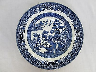 "Churchill Old English blue willow pattern - 9.5"" salad plate (Lot 4)"