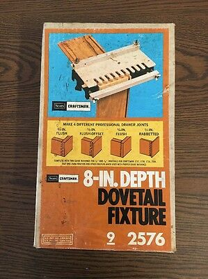 Sears Craftsman Dovetail Fixture - 8-in. Depth - 2576