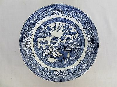 Churchill Old English blue willow pattern - soup bowl (Lot 1)