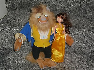 Disney Beauty & The Beast Doll & Soft Toy Beast Belle Doll 12'' Tall Lovely