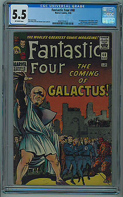Fantastic Four #48 Cgc 5.5 1St Silver Surfer & Galactus Off-White Pages 1966