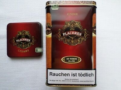 "1 Zigarrenblechdose  ""Placeres Cigars"""
