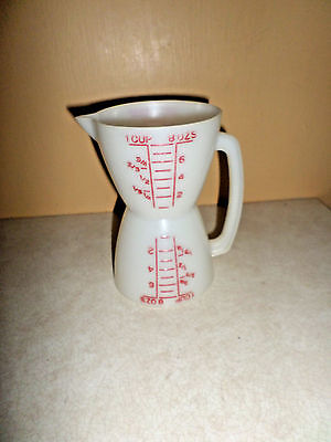 Tupperware Wet Dry Measure twin Measuring Cup 2 Cup red letters