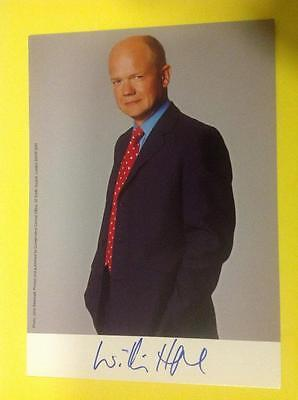 WILLIAM HAGUE Hand Signed Promo - Former Leader of The Conservative Party