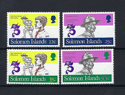 Solomon Islands 1982  75Th Anniv Of Boy Scouts Set Of 4 Mnh