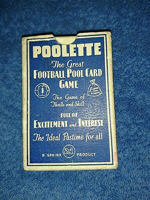 """Vintage Card Game """"POOLETTE"""" + Instructions and Box Sphinx 1930s EXCELLENT COND"""