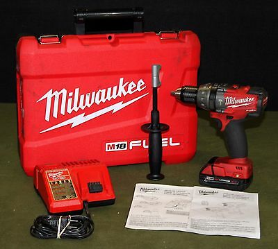 Milwaukee #2604-22 Hammer Drill/Driver Kit!  M18 Fuel Battery & Charger