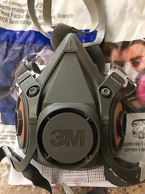 3M Half Face Respirator Mask Large 6300 Free Shipping! P100 Filters Included
