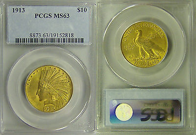 1913 PCGS MS63 Gold $10 Indian