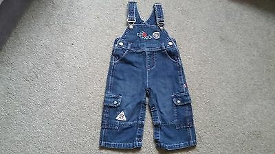 A Pair Of Boys Denim Dungerees Age 6/9 Months