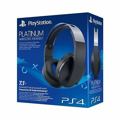 Official Sony PlayStation Platinum Wireless Headset PS4 -Black BRAND NEW
