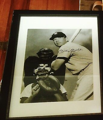 Very Rare Mickey Mantle Autographed Picture.