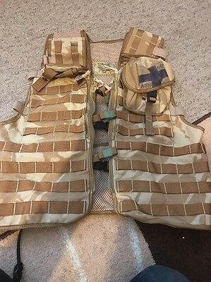 British Army Tactical Load Carrying Molle Assault Vest. Desert Storm.