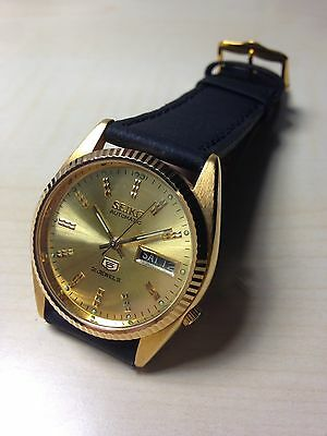 Orologio Vintage Seiko 5 Automatico Gold 7009 Day_date Mm 37 Watch W.r.