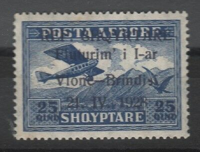 1928 Albania. Albanian Stamps. Air Mail. Ovp. ERROR. SHQYRTARE. MNH
