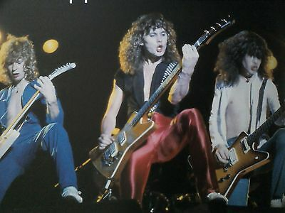Def Leppard 3 Guitarists 22x14cm Small Image from Music Book Kerrang