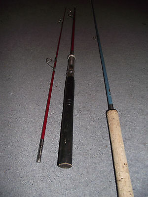 Two Vintage Carbon Fishing Rods