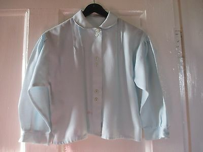 Girls Marks and Spencer's Vintage  warm  aqua pretty blouse age 5 yrs 110 cm