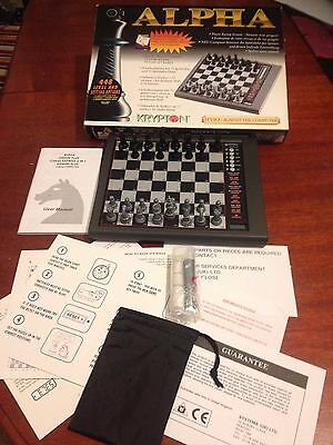Alpha Krypton Electronic Talking Chess & Checkers