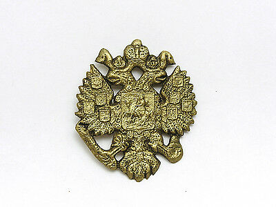 1900 Russian Imperial Double Headed Eagle Brass Casting Romanov Coat Arms