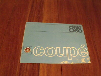 Fiat 850 Coupe'  Brochure Microcar