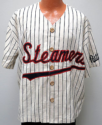 vtg PASTIME STEAMERS #24 Baseball Jersey XL 90s Movie Promo usa sewn rare stripe
