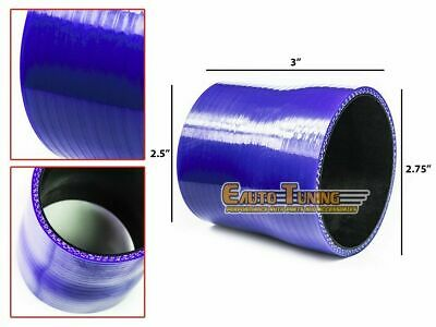 "2.75"" To 2.5"" Silicone Intake/Intercooler Pipe Coupler BLUE For Jeep/Land Rover"