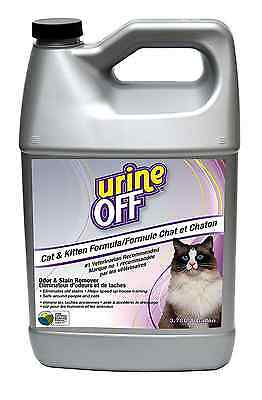Urine Off PT3013 Odor and Stain Remover for Cats, 1-Gallon