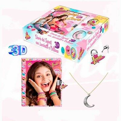Soy Luna Diary of Secrets with lock and necklace Diario con Collar