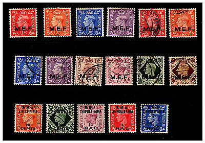 M.E.F. & B.M.A. Tripolitania Ovpt GB Stamps.  Mounted/Used.  #934