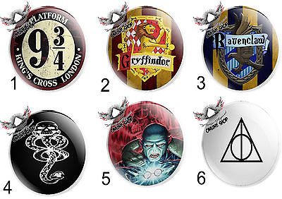 HARRY POTTER badges 5x-25mm Pin Button Badges HOGWARTS Geek Cosplay